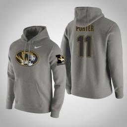 Missouri Tigers #11 Jontay Porter Men's Gray Pullover Hoodie