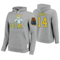 UCLA Bruins #14 Kenneth Nwuba Men's Gray College Basketball Hoodie