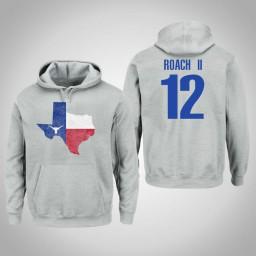 Texas Longhorns #12 Kerwin Roach II Men's Gray College Basketball Pullover Hoodie