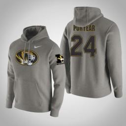 Missouri Tigers #24 Kevin Puryear Men's Gray Pullover Hoodie