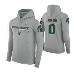 Michigan State Spartans #0 Kyle Ahrens Men's Gray College Basketball Hoodie