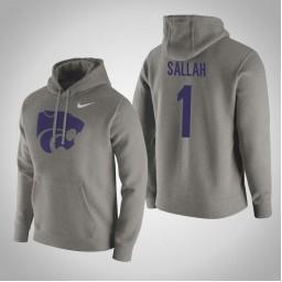 Kansas State Wildcats #1 Mawdo Sallah Men's Gray Pullover Hoodie