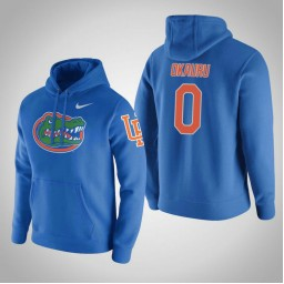 Florida Gators #0 Mike Okauru Men's Gray College Basketball Hoodie