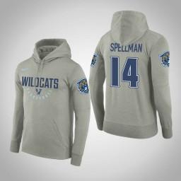 Villanova Wildcats #14 Omari Spellman Men's Gray College Basketball Hoodie