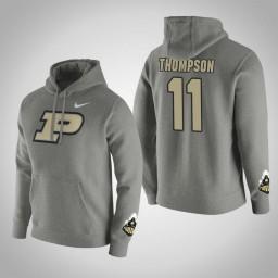 Purdue Boilermakers #11 P.J. Thompson Men's Gray Pullover Hoodie