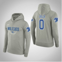 Kentucky Wildcats #0 Quade Green Men's Gray College Basketball Hoodie