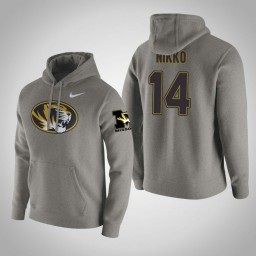 Missouri Tigers #14 Reed Nikko Men's Gray Pullover Hoodie