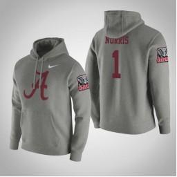 Alabama Crimson Tide #1 Riley Norris Men's Gray College Basketball Hoodie