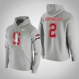 Stanford Cardinal #2 Robert Cartwright Men's Gray College Basketball Hoodie