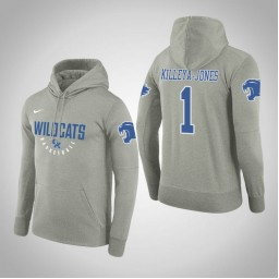 Kentucky Wildcats #1 Sacha Killeya-Jones Men's Gray College Basketball Hoodie