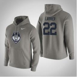 Uconn Huskies #22 Terry Larrier Men's Gray Pullover Hoodie