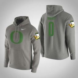 Oregon Ducks #0 Troy Brown Men's Gray College Basketball Hoodie