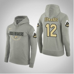 Purdue Boilermakers #12 Vincent Edwards Men's Gray College Basketball Hoodie