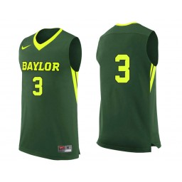 Youth Baylor Bears #3 Jake Lindsey Authentic College Basketball Jersey Green