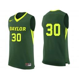 Youth Baylor Bears #30 Jonathan Davis Authentic College Basketball Jersey Green