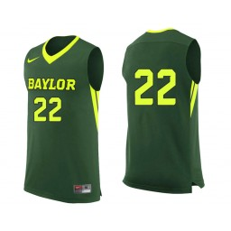 Youth Baylor Bears #22 King McClure Authentic College Basketball Jersey Green