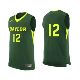 Youth Baylor Bears #12 Leonard Allen Authentic College Basketball Jersey Green