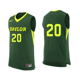 Youth Baylor Bears #20 Manu Lecomte Authentic College Basketball Jersey Green