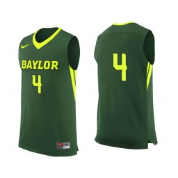 Youth Baylor Bears #4 Mario Kegler Authentic College Basketball Jersey Green