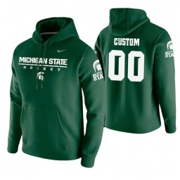Michigan State Spartans #00 Custom Men's Green College Basketball Hoodie