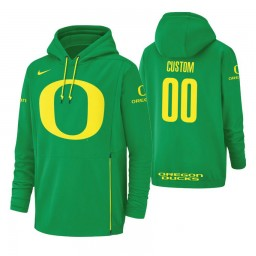 Oregon Ducks #00 Custom Men's Green College Basketball Hoodie