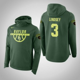 Baylor Bears #3 Jake Lindsey Men's Green Elite College Basketball Hoodie