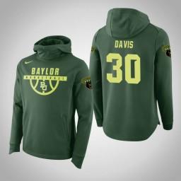 Baylor Bears #30 Jonathan Davis Men's Green Elite College Basketball Hoodie