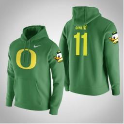 Oregon Ducks #11 Keith Smith Men's Green College Basketball Hoodie