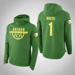 Oregon Ducks #1 Kenny Wooten Men's Green Elite College Basketball Hoodie