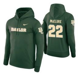 Baylor Bears #22 King McClure Men's Green Pullover Hoodie