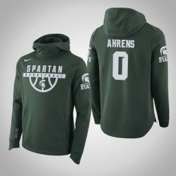 Michigan State Spartans #0 Kyle Ahrens Men's Green College Basketball Hoodie