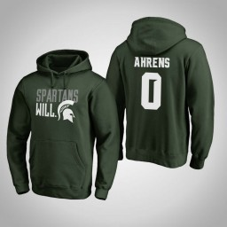 Michigan State Spartans #0 Kyle Ahrens Men's Green Team Hometown Collection Pullover Hoodie