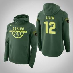 Baylor Bears #12 Leonard Allen Men's Green Elite College Basketball Hoodie