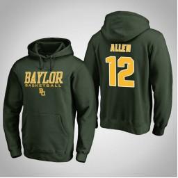 Baylor Bears #12 Leonard Allen Men's Green College Basketball Hoodie