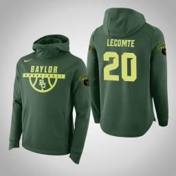Baylor Bears #20 Manu Lecomte Men's Green Elite College Basketball Hoodie