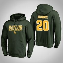 Baylor Bears #20 Manu Lecomte Men's Green College Basketball Hoodie