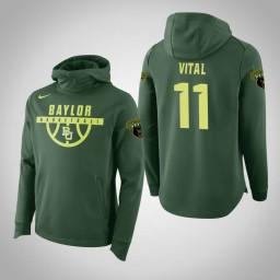 Baylor Bears #11 Mark Vital Men's Green Elite College Basketball Hoodie