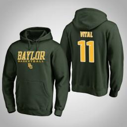 Baylor Bears #11 Mark Vital Men's Green College Basketball Hoodie