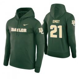 Baylor Bears #21 Nuni Omot Men's Green Pullover Hoodie
