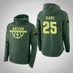 Baylor Bears #25 Tristan Clark Men's Green Elite College Basketball Hoodie