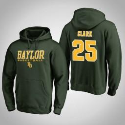 Baylor Bears #25 Tristan Clark Men's Green College Basketball Hoodie