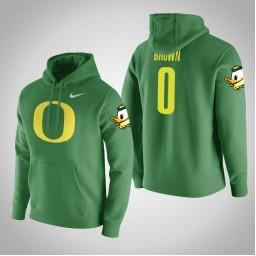 Oregon Ducks #0 Troy Brown Men's Green College Basketball Hoodie