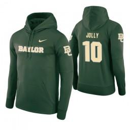 Baylor Bears #10 Tyson Jolly Men's Green Pullover Hoodie