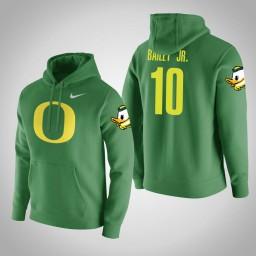 Oregon Ducks #10 Victor Bailey Jr. Men's Green College Basketball Hoodie