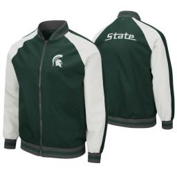 Michigan State Spartans Green Kent Full-Zip Bomber Jacket