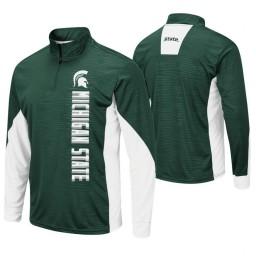 Michigan State Spartans Green Bart Windshirt Pullover Jacket
