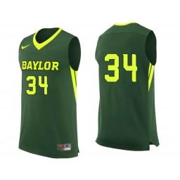 Youth Baylor Bears #34 Obim Okeke Authentic College Basketball Jersey Green