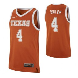 Youth Greg Brown Authentic College Basketball Jersey Texas Orange Texas Longhorns Authentic College Basketball Jersey