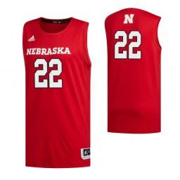 Women's Nebraska Cornhuskers #22 Haanif Cheatham Scarlet Authentic College Basketball Jersey