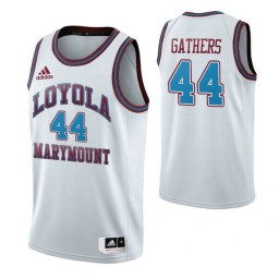 Youth Loyola Marymount Lions #44 Hank Gathers White Authentic College Basketball Jersey